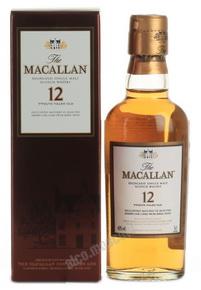 Macallan sherry oak 12 years виски Макаллан шерри оак 12 лет 40 градусов 0.05 л