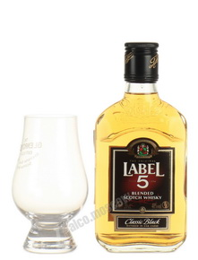 Label 5 Classic Black 0,2l Виски Лэйбл 5 лет  Классик Блэк 0,2л