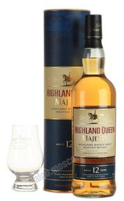 Highland Queen Majesty 0,7l Виски Хайленд Куин Мэджести 12 лет 0,7л в тубе