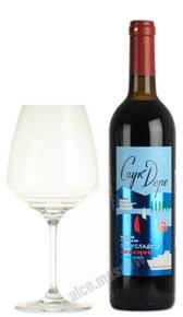 Российское вино Саук-Дере Красное полусладкое