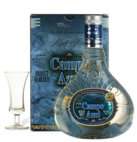 Campo Azul Extra Anejo 100 % Agave текила Кампо Азул Экстра Аньехо 100 % Агава
