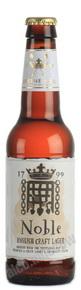 Noble English Craft Lager пиво Нобл Инглиш Крафт Лагер светлое фильтрованное пастеризованное 0.33 л.