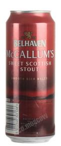 Belhaven McCallums Stout пиво Белхевен Маккаллумс Стаут темное фильтрованное пастеризованное 0.44 л. ж/б