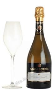 Абхазское шампанское белое полусладкое
