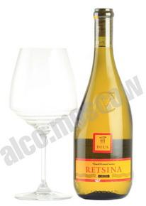 Cavino Deus Retsina греческое вино Кавино Деус Рецина