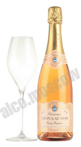 Leon Launois Brut Rose шампанское Леон Лонуа Брют Розе