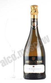 Абхазское Шампанское белое полусладкое 0,75л