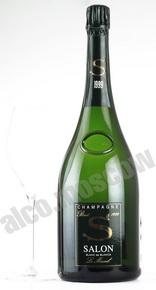 Salon Brut Blanc de Blancs 1999 gift box шампанское Салон Брют Блан де Блан 1999 в п/у