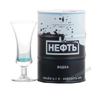 Neft водка Нефть черно/белая