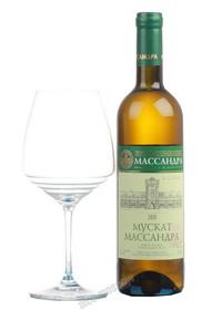Massandra Muscat white semi-sweet Вино Массандра Мускат полусладкое белое
