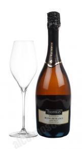 Talisman Blanc De Blancs Demi-Doux грузинское шампанское Талисман Блан Де Блан Деми-Ду