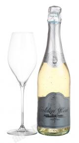 Golden Kiss Brut немецкое шампанское Голден Кис Брют (с включением блесток из золота)